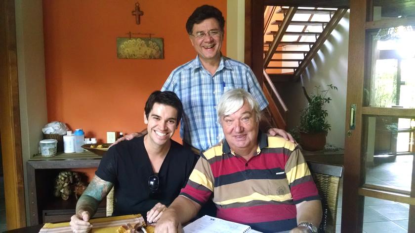 Na Fazenda da Esperança com os fundadores Frei Hans e Nelson Giovanelli